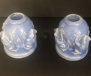 Vintage Pair of Frog Candle Holders