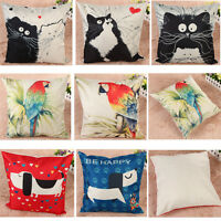 Cotton Linen Square Pillow Case Sofa Throw Cushion Cover Home Decor 45cm / 18