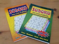 2 X Large Print Sudoku Puzzle Books. Puzzles A5 Pages Activity book