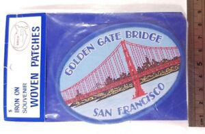 Vintage Golden Gate Bridge Patch San Francisco United States America USA Bay New