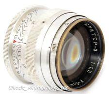 EARLY!! Jupiter-3 5cm 1:1.5 LEICA LTM / L39 fit PRIME Lens Made in USSR 1951