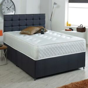 Luxury Orthopaedic Quilted Memory Foam Sprung Mattress single 4ft Double 4ft6