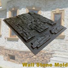 Wall Stone Concrete Molds DIY Plaster Cement Tiles Paving Pavement Mould Maker ❤