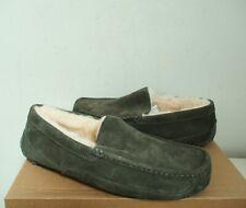 UGG Men's ASCOT Slippers Shoes 10US BURNT OLIVE Green Suede NWOB $110 MSRP