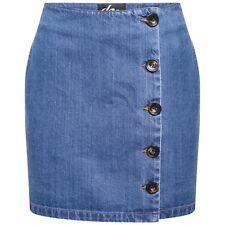 DeMIna Bone Button Denim Mini Skirt 8-18 Toni