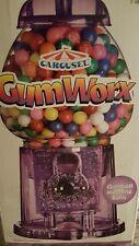 Carousel Gum Worx Gumball Machine Bank Purple Acrylic NIB