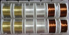 Fly Tying Mixed wires 1 gold 1 silver 1 copper = 3 spool set