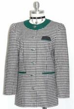 "COTTON LINEN Jacket Over Coat Women Summer Austria Dress BLACK & WHITE B38"" 8 S"