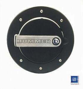 DefenderWorx Hummer H2 Fuel Door H2PPT08060 Black Two-Tone Lockable