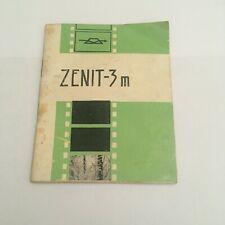 VINTAGE INSTRUCTIONS MANUAL FOR ZENIT-3m CAMERA-FREE SHIPPING
