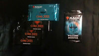 MTG M21 Core 2021 Foil promo Pack x1 Promo Pack x3 AND welcome booster NEW