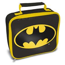 Oficial Dc Comics Negro y Amarillo Logo Batman Fiambrera