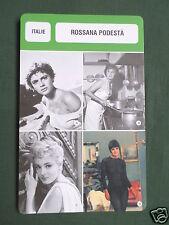 ROSSANA PODESTA - MOVIE STAR - FILM TRADE CARD - FRENCH