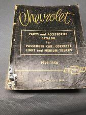 1929-56 Chevy Passenger Car Corvette Truck Parts Accessories Catalog Book Manua