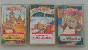1991 Teddy Ruxpin Music Cassette Tapes Vol 1-3 Lullabies Proud to be Me Friends