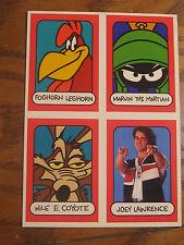 Warner Bros. Toon In To School Set 4 Trading Cards 1993 w/ Joey Lawrence Tip #1