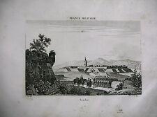 gravure ancienne XIXe FRANCE MILITAIRE Landau