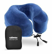 New Cabeau Evolution Memory Foam Travel Pillow w/ Washable Cover, Bag & Earplugs