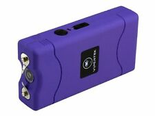 Purple 80 Million Volt Self Defense Stun Gun w/ LED light + Free taser Holster