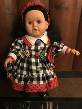 Feber Doll Made in Spain  Black Hair Blue Eyes Great Condition 1992