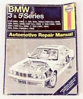 Haynes BMW 3 & 5 Series 1983-1992 Repair Manual 2020 Automotive repair Manual.