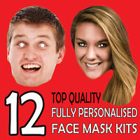 12 PERSONALISED CUSTOM FACE MASK KITS SEND A PIC & WE GIVE ALL YOU NEED TO DIY !