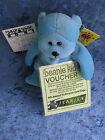 BEANIE KIDS - OLIVER THE BABY BLUE BEAR BK 83 MELBOURNE CARD EXPO 2001 VOUCHER