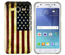 TPU Case für Samsung Galaxy J5 Schutzhülle Tasche Cover USA Amerika Flagge retro