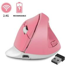 Ergonomic Wireless Mouse 1600DPI USB Rechargeable 2.4GHz Optical Vertical Mices