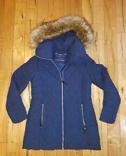 NEW Women's Blue MARC NEW YORK ANDREW MARC Stretch Faux Down Faux Fur Coat XXL