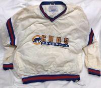 Vintage Chicago Cubs Starter Pullover Jacket Size XXL *See Description* MLB