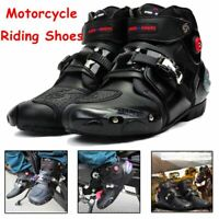Men Motorcycle Boots Offroad Sport Motorbike Ride Racing Waterproof Shoes Black
