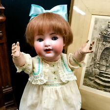 FLIRTY K*R Simon Halbig 126 FULLY JOINTED Character Cabinet Doll Antique German