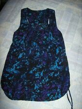 Miss Selfridge Size 10 Tunic Blouse Teal Blue Purple