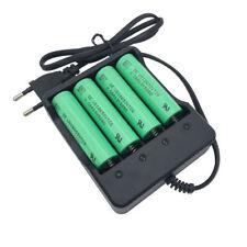 4PCS 18650 VTC6 Battery 3000mAh 3.7V Li-ion Rechargeable High Drain Flat&Charger