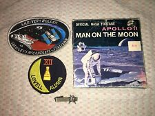 NASA Lot Shuttle Gemini 12 Patch Apollo Tie Clasp Apollo 11 Landing 8mm Film