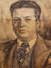 Henri SAADA (1906-1976)Fusain orientalisme Portrait autoportrait ? maroc Tunisie