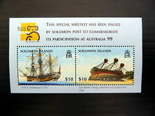 SOLOMON ISLANDS Wholesale 1999 World Stamp Expo $10 Ships M/Sheet x 50 FP1086