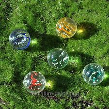 Miniature Fairy Garden Glow in the Dark Orb Marbles, 5 Piece Set