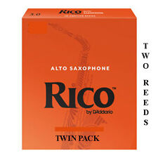 More details for twin pack rico alto orange saxophone 2 reeds strengths 1.5 2 2.5 3 3.5 free del