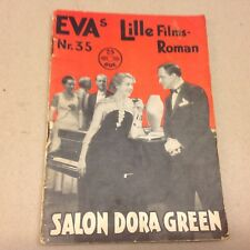 "Salon Dora Green Mady Christians 1933 Danish Movie Novel ""EVA Lille Filmroman"""