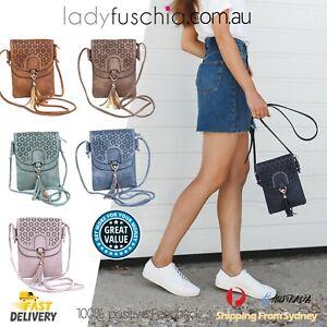 Women Syn Leather Crossbody Bag Messenger Shoulder Mobile Phone Travel Handbag