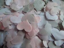 Cool Gris, Bébé Rose & Blanc Mariage Confettis Fête cœurs Bio Remplissage Cônes