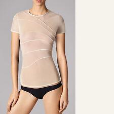 Wolford Tuck Shirt * XS * PORCELAINE... transparent, de très souple tulle