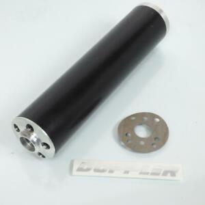 Silencieux cartouche de pot Doppler ER1 noir montage universel moto 50 à boite