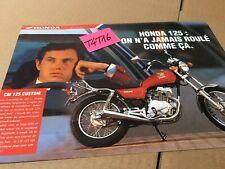 Honda gamme 125 NSRR CRM NX CM CG prospectus catalogue brochure publicité
