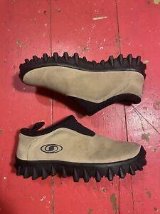 Salomon Contragrip CX Suede Slip On Thinsulate Snow Hiking Shoes Womens Sz 8 Tan