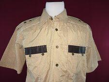FRANKY MAX Short Sleeve Button Up Shirt Mens XL