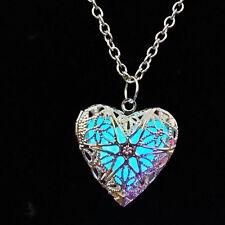 INTENSO Corazón Hueco Colgante Collar Luminoso Brilla En La Oscuridad