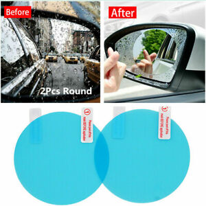 Car Rearview Mirror Round Protective Film Anti Fog Rainproof Accessories 80x80mm